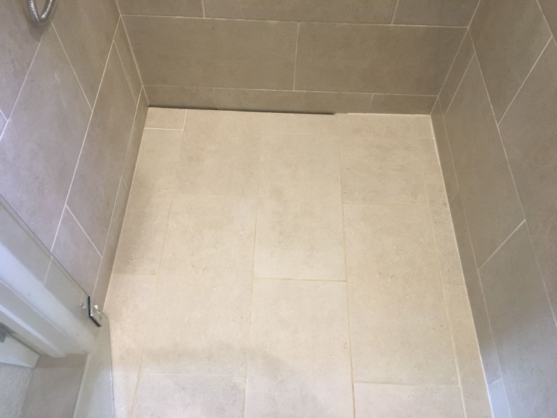 Infinity Drain with hinged Shower Panel